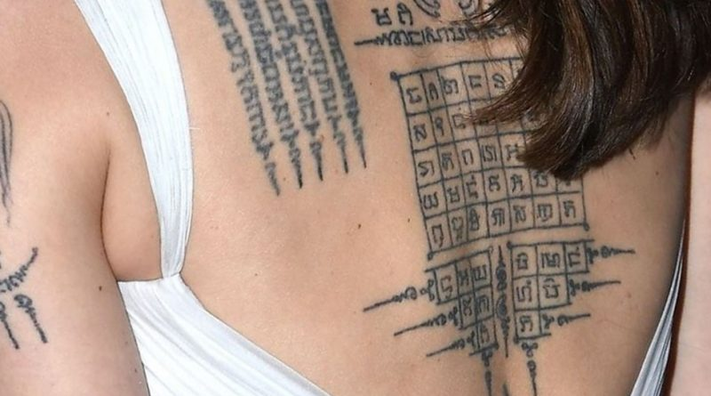 Angelina Jolie back tattoo meaning