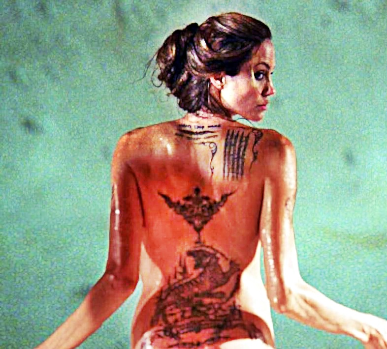Celebrities with tattoos, Angelina Jolie tattoo meaning