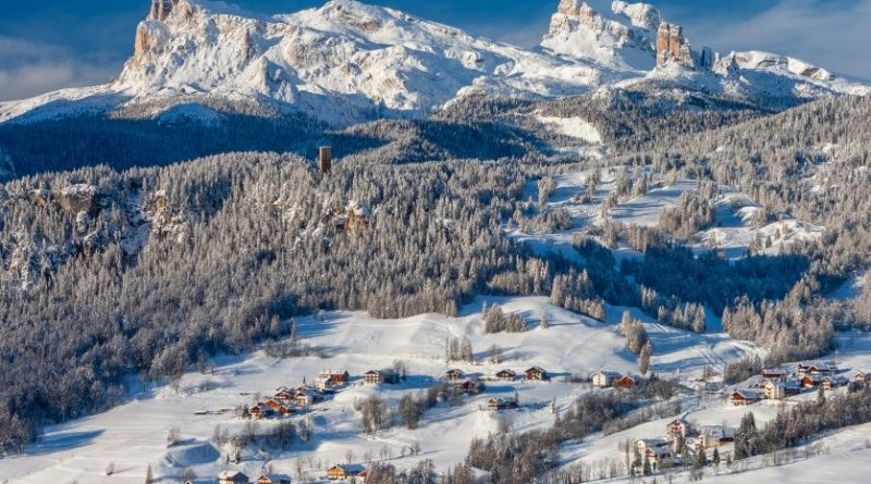 Cortina d'Ampezzo ski resort is one of the most important ski resorts in Italy