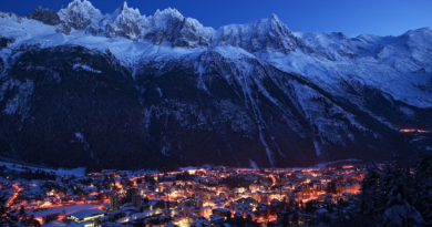 Chamonix is one of the world famous ski resorts located in the Mont Blanc mountains of France