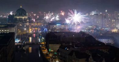 Berlin Fireworks New Year's Eve