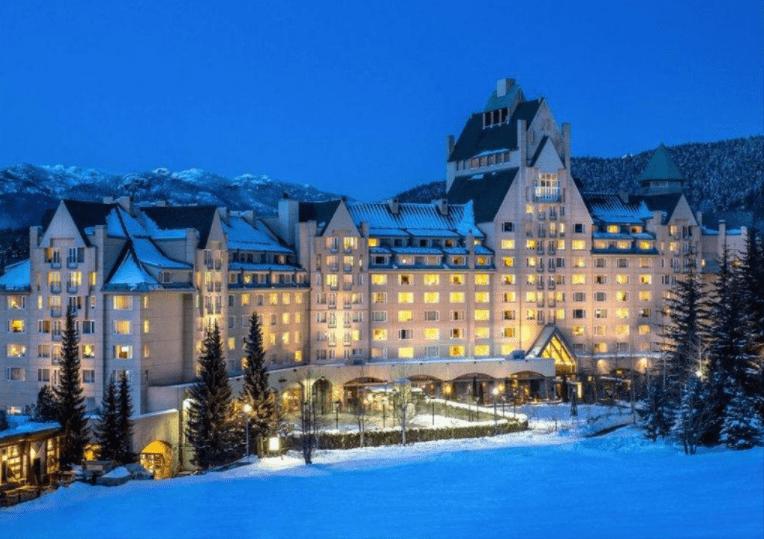 luxury Fairmont Chateau Whistler Hotel, Canada winter holidays
