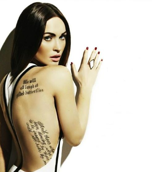Megan Fox tattoos back meaning