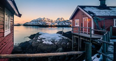 Sunset in Svolvaer - Norway