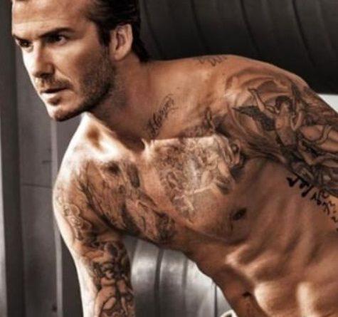 David Beckham tattoos photos