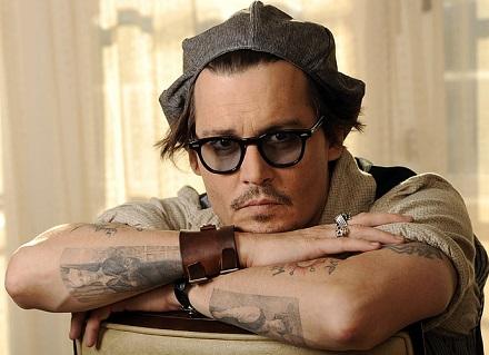 Johnny Depp's Tattoos Photos